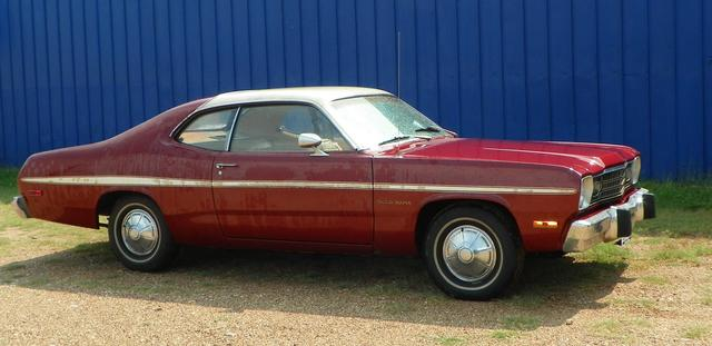 1974 Plymouth Duster GOLD DUSTER at Lucas Mopars in Cuero TX