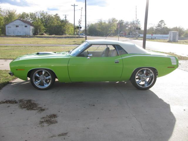 1970 Plymouth Barracuda convertible at Lucas Mopars in Cuero TX