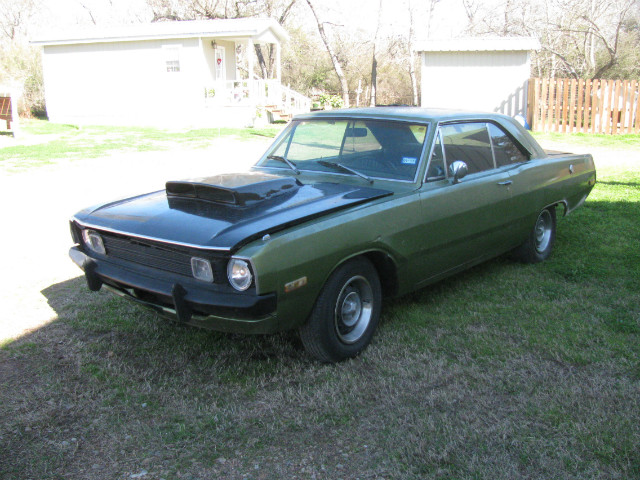 1972 Dodge Dart swinger at Lucas Mopars in Cuero TX