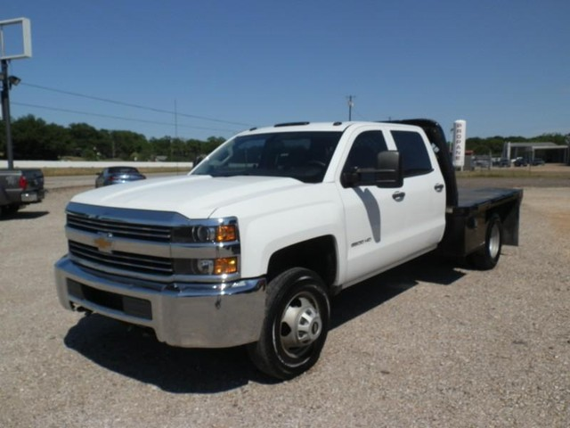 2016 Chevrolet Silverado 3500HD CREW CAB FLAT BED at Texas Frontline Trucks in Canton TX